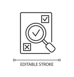Evaluation pixel perfect linear icon vector