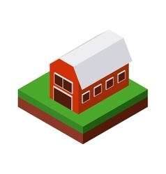 Farm icon isometric design graphic vector