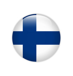 finland flag on button vector image