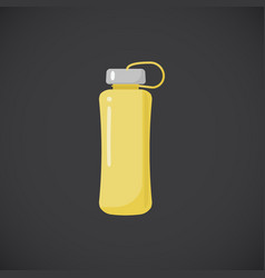 Fitness bottle flat icon vector