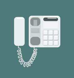 flat telephone vector image