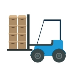 Forklift vehicle delivery transport vector