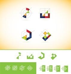 Geometric abstract logo icon vector image