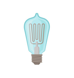 Glass light bulb incandescent lamp for lighting vector
