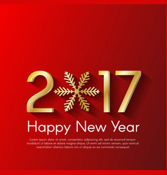 Golden new year 2017 concept on red background vector