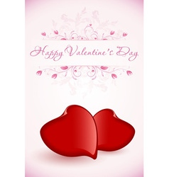 Happy Valentines Day Floral Card vector image
