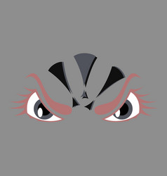 Icon on theme evil emotions vector