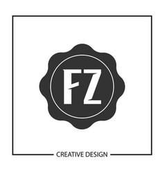 initial letter fz logo template design vector image