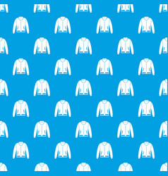 jacket pattern seamless blue vector image