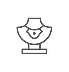 Jewelry mannequin line icon vector