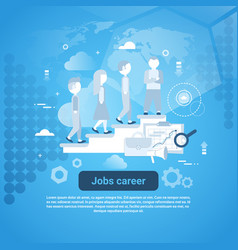 job career template web banner with copy space vector image