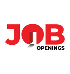 job openings concept with text and entrance stock vector image