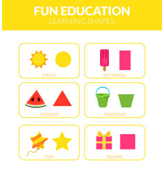 learning shapes fun educational game for kids vector image