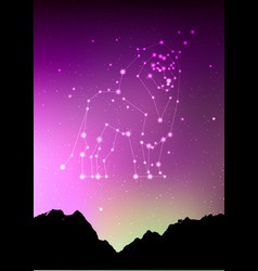 Leo zodiac constellations sign with forest vector