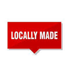 Locally made red tag vector