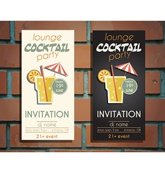 Lounge cocktail party flyer invitation template vector image