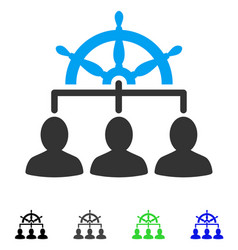 management steering wheel flat icon vector image