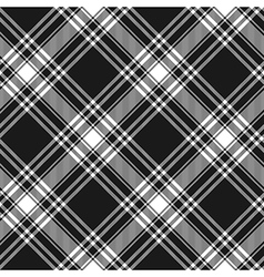 Menzies tartan black kilt diagonal fabric texture vector