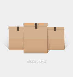 mockup of blank paper package for branding vector image