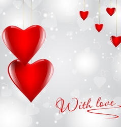 Modern Love Hearts Background vector image