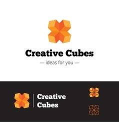 Modern orange geometric logo Abstract vector