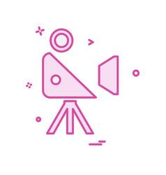 movie camera icon design vector image