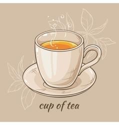Mug of tea vector