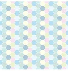 Multicolored hexagon geometric seamless background vector image