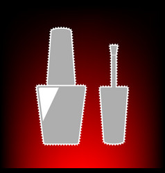 nail polish style vector image