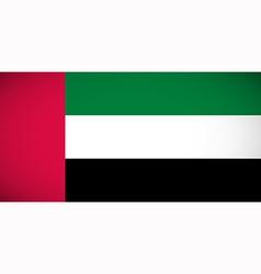 national flag united arab emirates vector image
