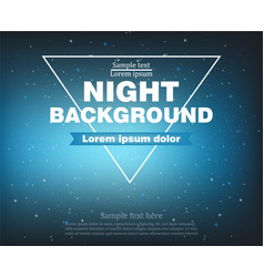 night banner background realistic template vector image