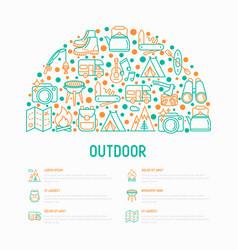 outdoor concept in half circle vector image