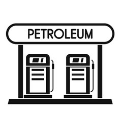 petroleum station icon simple style vector image