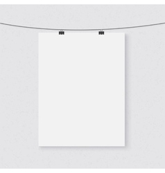 Photorealistic Dark Poster on a String vector image
