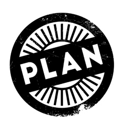 Plan stamp rubber grunge vector