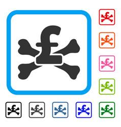 Pound mortal debt framed icon vector