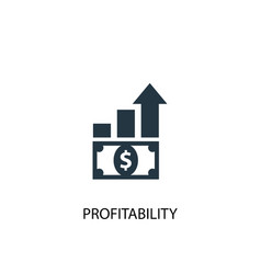 profitability icon simple element vector image