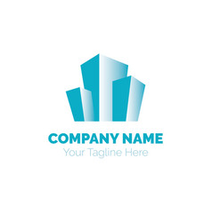 real estate logo design template building vector image