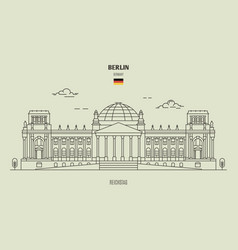 reichstag in berlin vector image