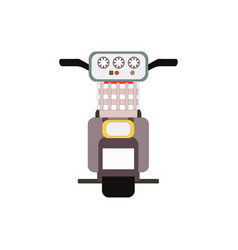 retro moped scooter back view vector image