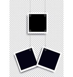 retro realistic photo frame vector image