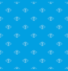 retro style pattern seamless blue vector image