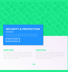 security and protection concept with thin line vector image