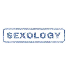 sexology textile stamp vector image