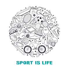 sport circle comosition vector image