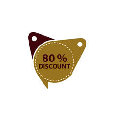 tag discount label 80 percent vector image