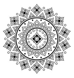 Thai mandala design floral round pattern vector