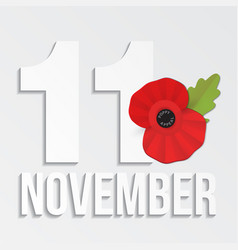 The remembrance poppy - poppy appeal modern paper vector