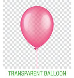 Transparent pink ballon vector