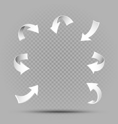 White pointing arrows set vector